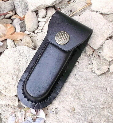 9cm leather knife pouch case,leather sheath camping bush craft,edc field gear,