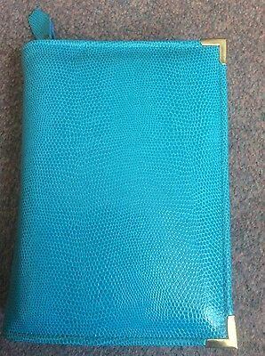 Genuine Turquoise  leather print bible cover for standard NWT (DLbi12-E)