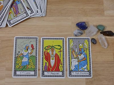 Full Deck Egyptian Theme Tarot cards never used NO BOOK (fortune telling psychic