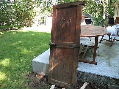 ANTIQUE WALK IN MEAT  LOCKER  Refrigerator, Wine Cellar Wood Door, WITH  HARDWRE