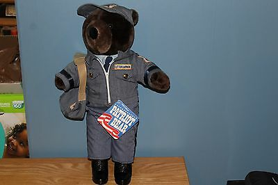 US Mail Post Office Mailman Letter Carrier Patriot Plush Teddy Bears USPS, Tags