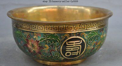 marked china Dynasty palace bronze Cloisonne enamel gilt flower statue bowl cup