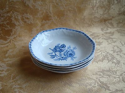 """Four J & G Meakin English Staffordshire """"OLD CHELSEA PATTERN"""" Fruit Bowls"""