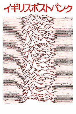 Joy Division Poster Unknown Pleasures Japanese High-Quality Archival Print 24x36