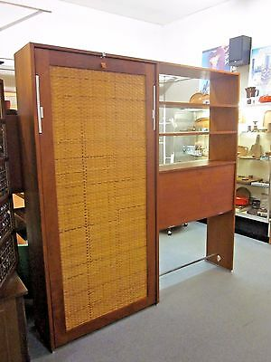 RARE Hans Wegner for Ry Mobler Teak Murphy Bed + Secretary/Shelving Unit c1970s
