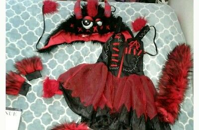 Monster rave festival outfit dress fluffies tail hood