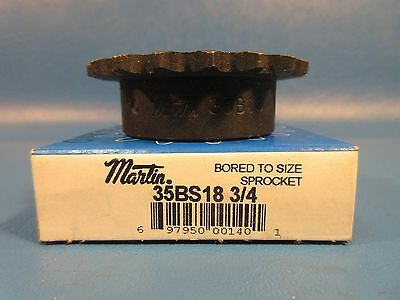 Martin 35BS18 3/4, Finished Bore Sprocket; 35 Chain Number; 1 Strand; 18 Teeth
