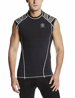 IntelliSkin Men's Foundation PostureCue Tank Shirt Black-XS
