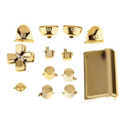 Gold Chrome Replacement Full Buttons Set For PS4 Playstation Controller
