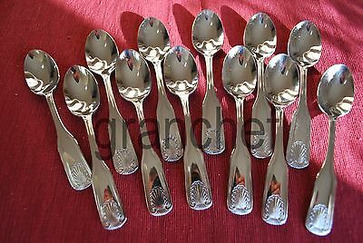 Teaspoons ~ 12 Pieces ~ Shell Pattern ~ Heavy Wt. Stainless Steel ~ New In Box