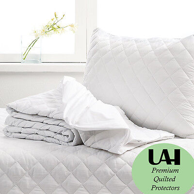 Quilted Mattress Protector Topper Fitted Bed Cover All