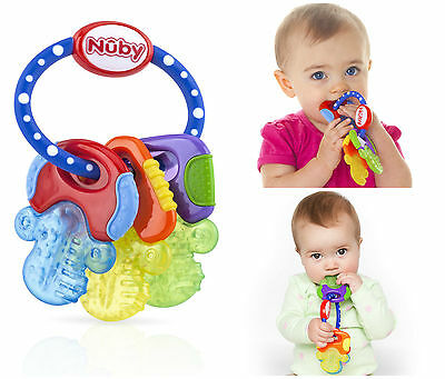 Baby First Toy Soft Teething Keys Play Toddler Soothing Teether BPA Free