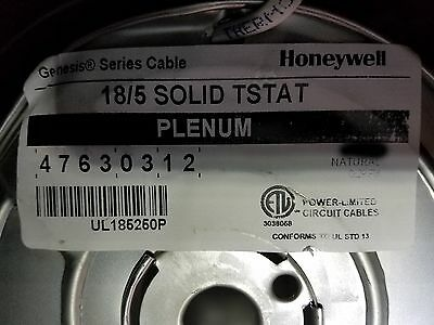 Honeywell Genesis 4763 18/5C Solid Plenum Thermostat Cable White /50ft