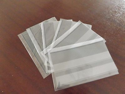 50 x Clear Polyprotec wallets complete with 50 x black 2 strip Stamp Stockcards