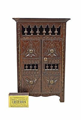 Vintage Brittany 2 Door Doll Armoire / Cabinet, French.