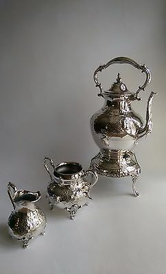 Victorian Silver-Plated Tea Set, Excellent Condition, Reed and Barton?