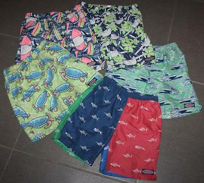 Youth Boy's VINEYARD VINES Swim Board Shorts Printed Trunks Lot Of 5 Pair Sz. M