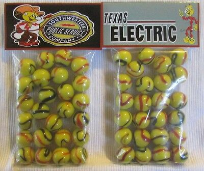 """2 Bags Of Reddy Kilowatt /""""I Work For Pennies A Day/""""  Promo Marbles"""
