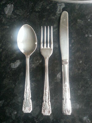 Set of silver plated small cutlery Sheffield England