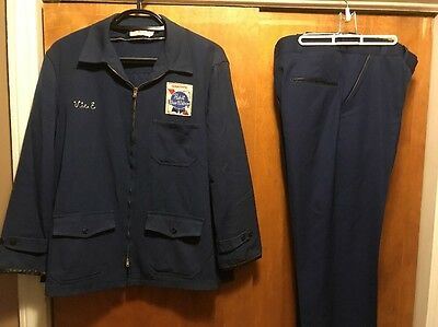 PABST BLUE RIBBON PBR MILWAUKEE BEER VINTAGE RARE 70s Delivery Work Uniform SET