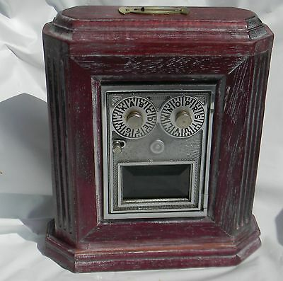 Vintage Us Post Office Mail Box Door Bank With Bevel Glass