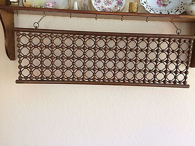 Antique Victorian Ball & Spindle Oak Fretwork Trim Panel