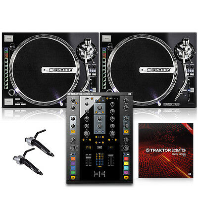 PK-RP8000 Reloop DJ Digital Turntable Package w/ Traktor Scratch