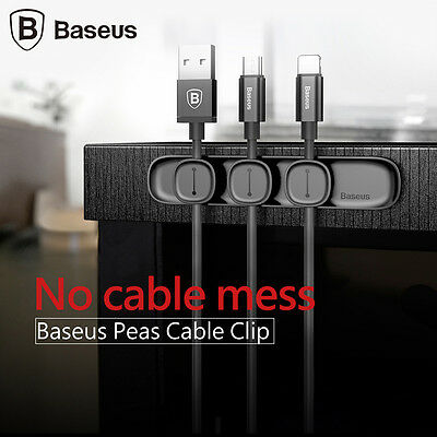 Baseus Peas Magnetic Cable Clip USB Cable Organizer Clamp Desktop Winder