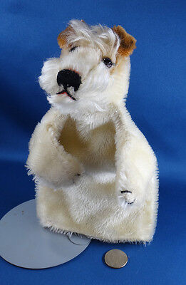 vintage FOXY PUPPET Steiff toy FOX TERRIER DOG no labels GERMANY