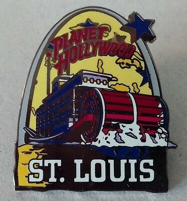 St Louis Planet Hollywood Steamboat Hat Lapel Souvenir Pin