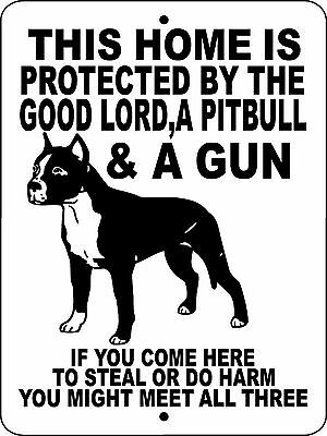 "PITBULL,PIT BULL DOG SIGN,GUARD DOG,9""x12"" ALUMINUM SIGN, WARNING, GLPBGUN"
