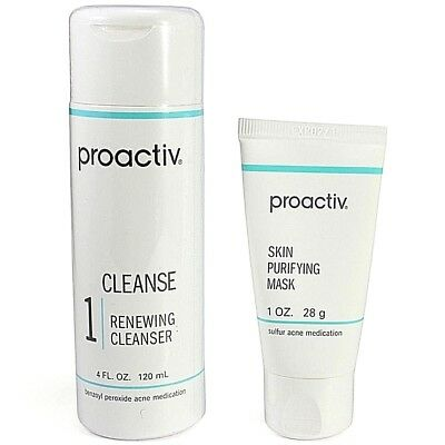Proactiv 2 piece 60 day Kit Cleanse Renewing Cleanser Mask proactive US 2020 exp