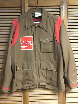 1970's Coca-Cola, Brown, Delivery Drivers, Insulated Winter Uniform Coat w/Liner