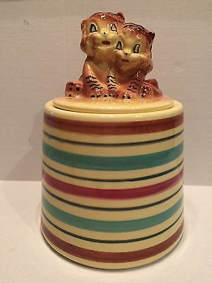 Robinson Ransbottom Pottery Tiger Cookie Jar - RRP Co.- Roseville, Ohio No. 386
