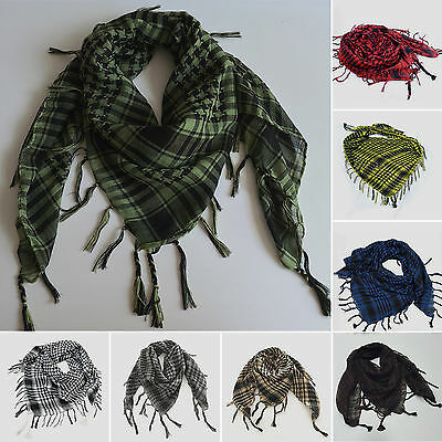 Men Womens Military Arab Tactical Desert Army Shemagh KeffIyeh Scarf Scarves US