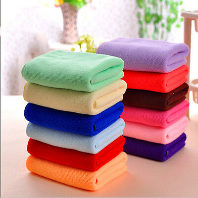 8 Multi-Color Soft Soothing Cotton Face Towel / Cleaning Wash Cloth Hand Towel