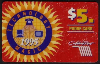 $5.00 'Technology Magic' 1995 Conf. At Disney Resort Hotel SPECIMEN Phone Card
