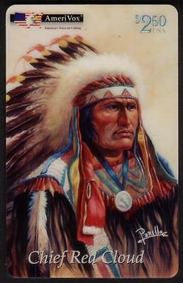 Chief Red Cloud, Indian Princess, Crazy Horse (Perillo: 4th Set of 3) Phone Card