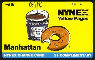 $1. Comp. NYNEX Yellow Pages (Coffee & Donut) - PROTOTYPE Phone Card