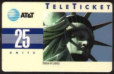 25u Statue of Liberty (Group 3) Spanish Phone Card