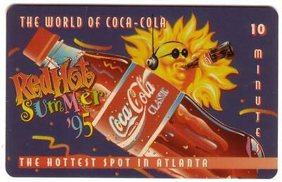 10m World of Coke: 'Red Hot Summer '95'  'Classic' LIVE 'SAMPLE/20' Phone Card