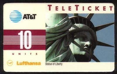 10u Lufthansa (Statue of Liberty) (English Reverse As Issued) Phone Card