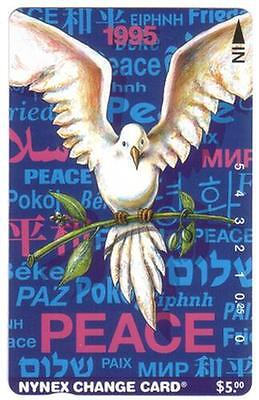 1995 Holiday Peace Card (Peace Dove With Greetings) NO Control # Phone Card