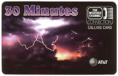30m The Weather Channel Connection & Logo (AT&T MultiQuest Services) Phone Card