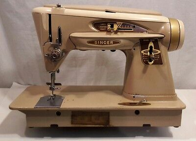 Singer Sewing Machine 503a Slant-O-Matic / Working + Attachments