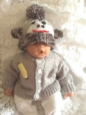 Handknitted 2 Piece Monkey Set For Baby Birth To 3 Months