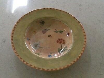 Royal Stafford Gardeners Journal Rimmed Soup Pasta Dish Bowl 24.5cm