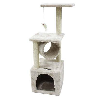 36'' Cat Tree Scratching Tower Post Condo Pet House Scratcher Furniture Bed New