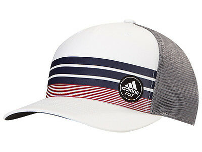 Adidas Stripe Trucker Cap - White/Noble Ink