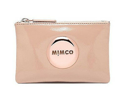 Mimco Blush pink small pouch clutch wallet purse patent leather Authentic new